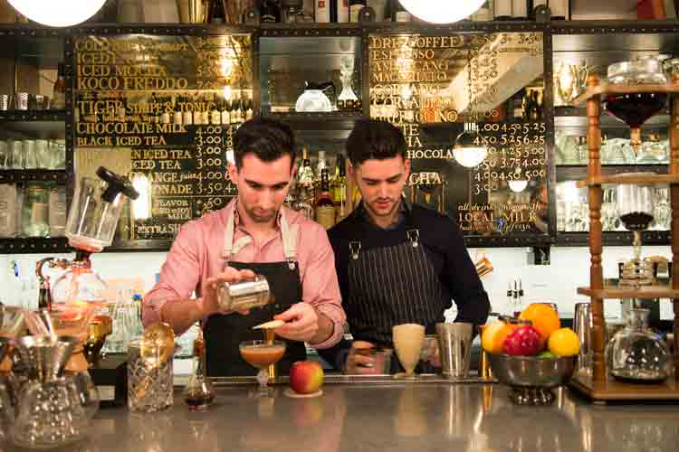 Making Coffee Infused Cocktails at 24 Ninth Ave